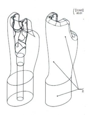 image leg drawing